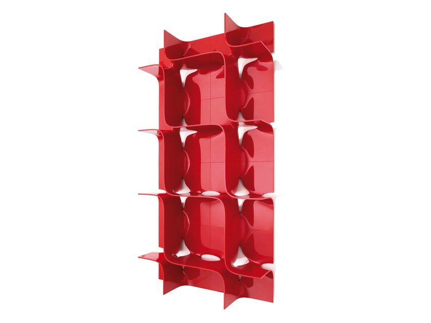 Sectional wall-mounted bookcase TIDE - Magis