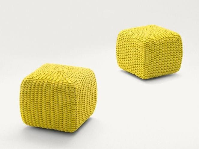 Square garden pouf TIDE - Paola Lenti
