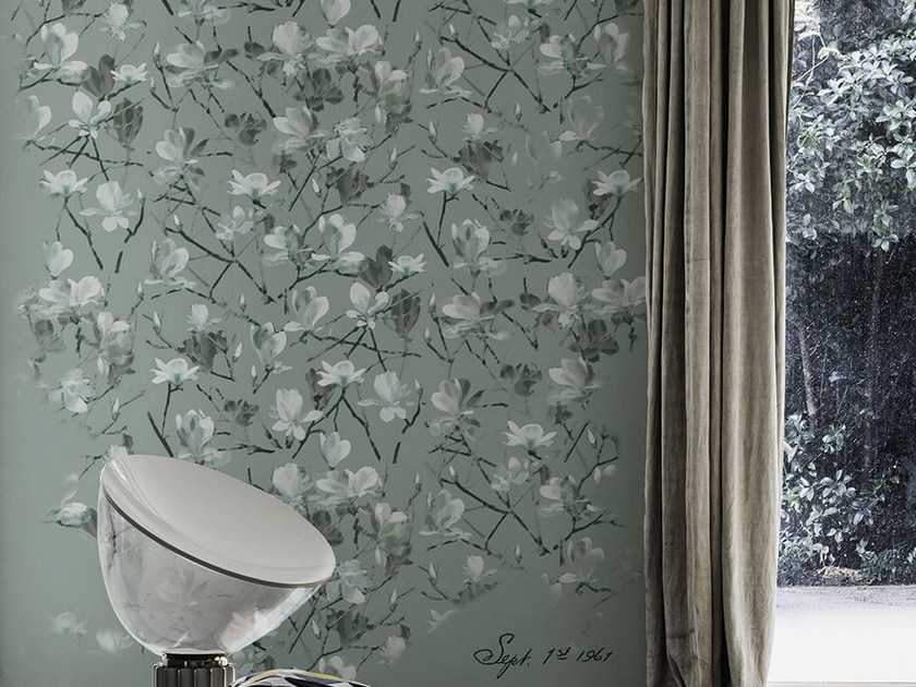 Wallpaper with floral pattern TIFFANY - Wall&decò