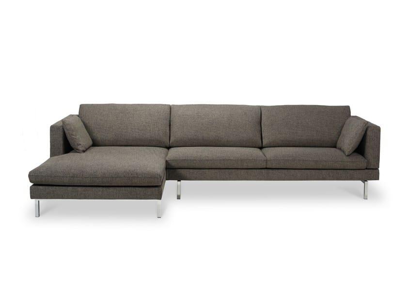Fabric sofa with chaise longue TIGRA | Sofa with chaise longue - Jori