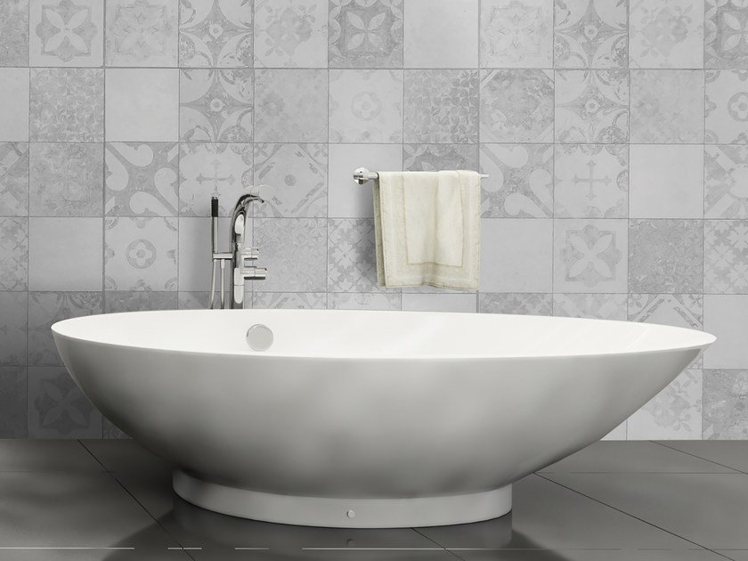 Glass-fibre bathroom wallpaper TILE by Wall LCA