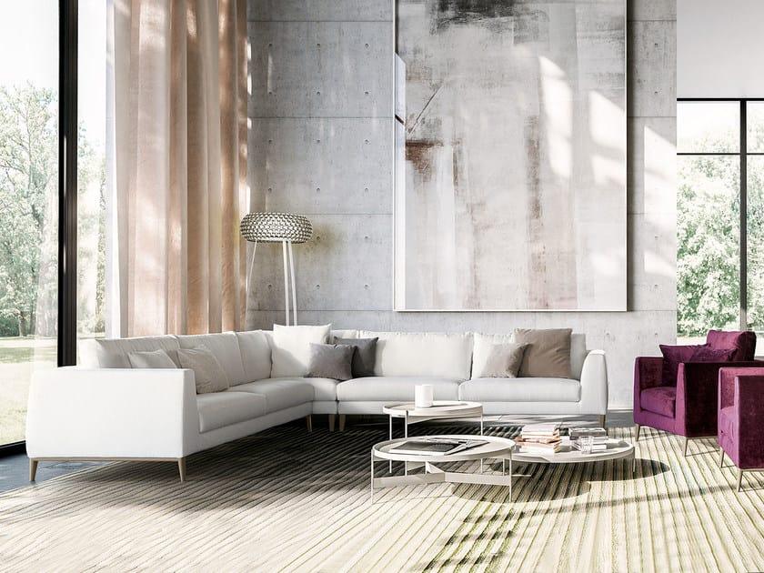 Corner fabric sofa TIME | Corner sofa by PIANCA