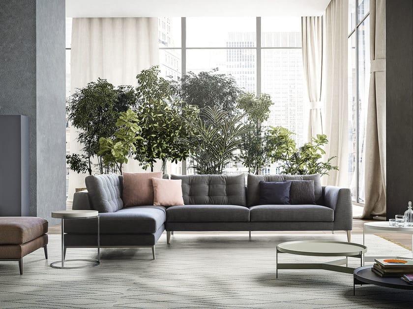 Contemporary style fabric sofa TIME | Corner sofa by PIANCA