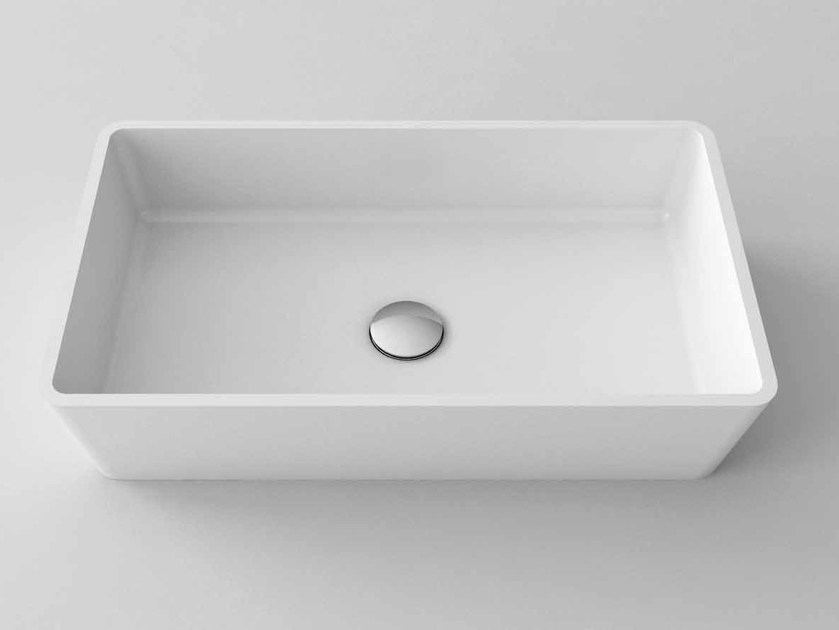 Countertop rectangular washbasin TIME by Flora Style