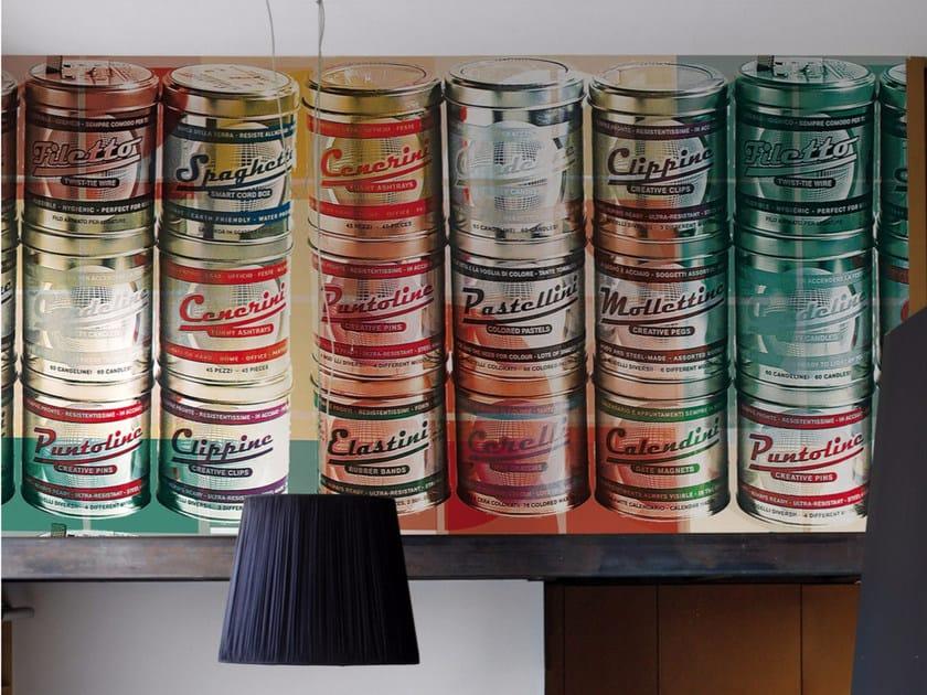 Motif panoramic wallpaper TIN CAN - Inkiostro Bianco