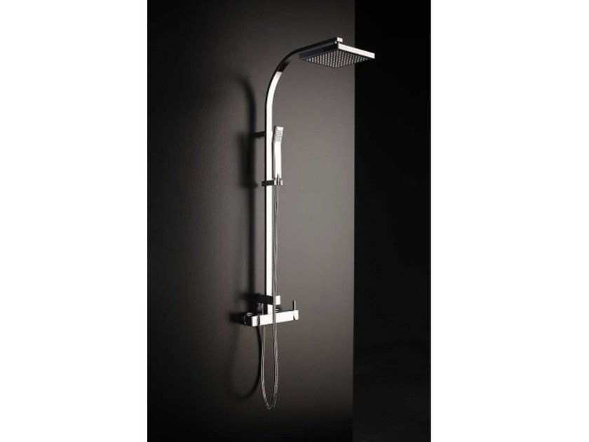 Wall-mounted shower panel with hand shower TINA | Shower panel - Systempool