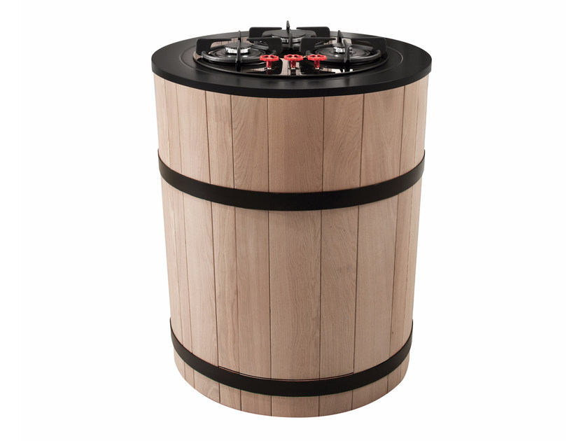 Wooden kitchen unit with hobs TINOZZA GAS HOBS - Minacciolo