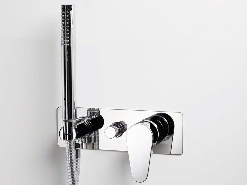 Wall-mounted bathtub mixer with hand shower TIP | Bathtub mixer - RUBINETTERIE RITMONIO