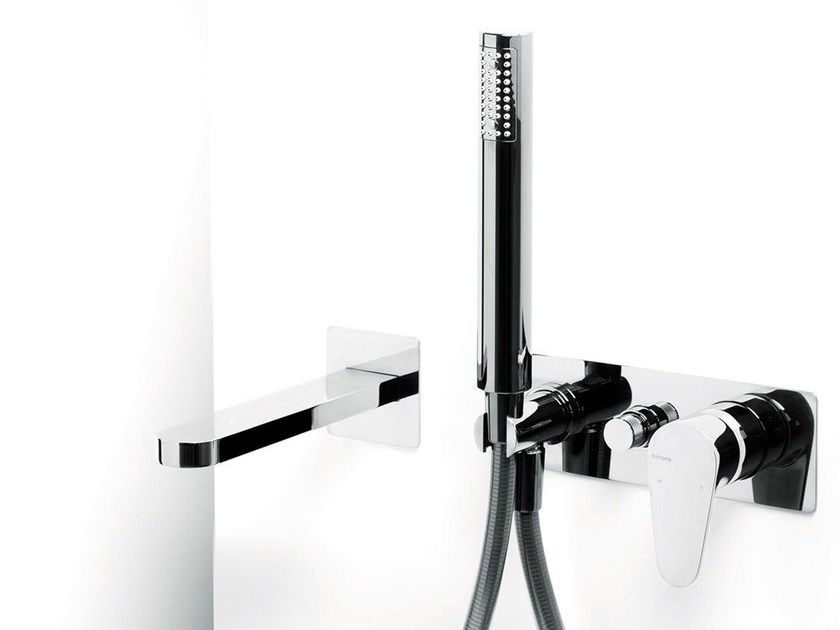 Wall-mounted bathtub set with hand shower TIP | Wall-mounted bathtub set - RUBINETTERIE RITMONIO