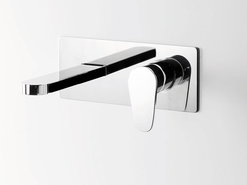 Wall-mounted metal washbasin mixer TIP | Wall-mounted washbasin mixer by RITMONIO