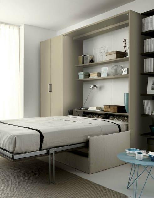 Parete attrezzata con letto a scomparsa tiramolla 961 tumidei - Mobili letto a scomparsa prezzi ...