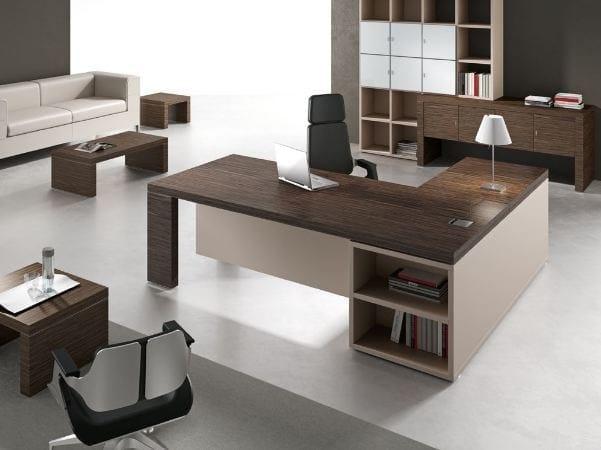 Titano scrivania ad angolo collezione titano by for Design ufficio srl roma