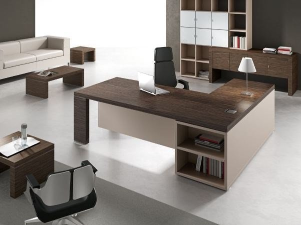 L-shaped office desk with shelves TITANO | L-shaped office desk by Castellani.it