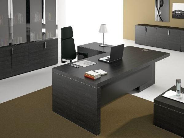 L-shaped office desk with shelves TITANO | Office desk by Castellani.it