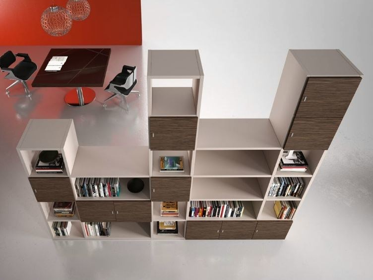 Modular wooden office shelving TITANO | Office shelving by Castellani.it