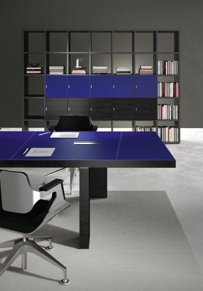 Libreria ufficio modulare in legno TITANO | Libreria ufficio - Castellani.it
