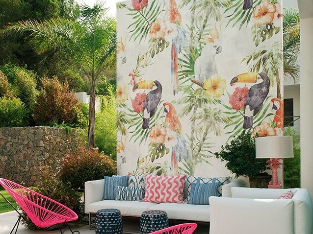 Motif outdoor wallpaper TOCO by Wall&decò