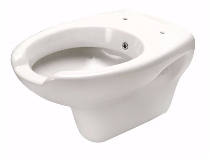 Wall-hung Vitreous China toilet for disabled with bidet CLASSIC | Toilet for disabled with bidet - Saniline by Thermomat