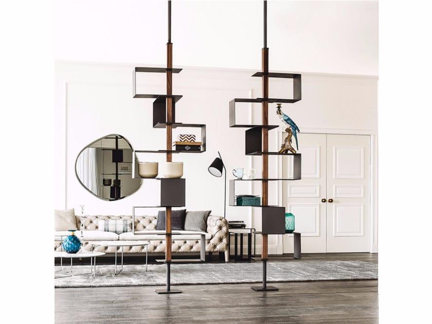 Open floor-ceiling mounted bookcase TOKYO - Cattelan Italia