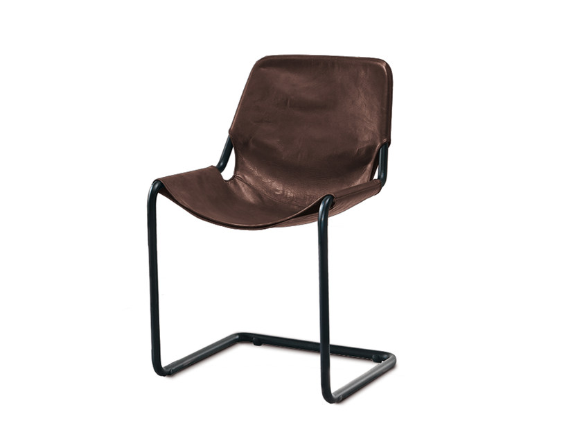 Cantilever leather chair TONDO - Oliver B.