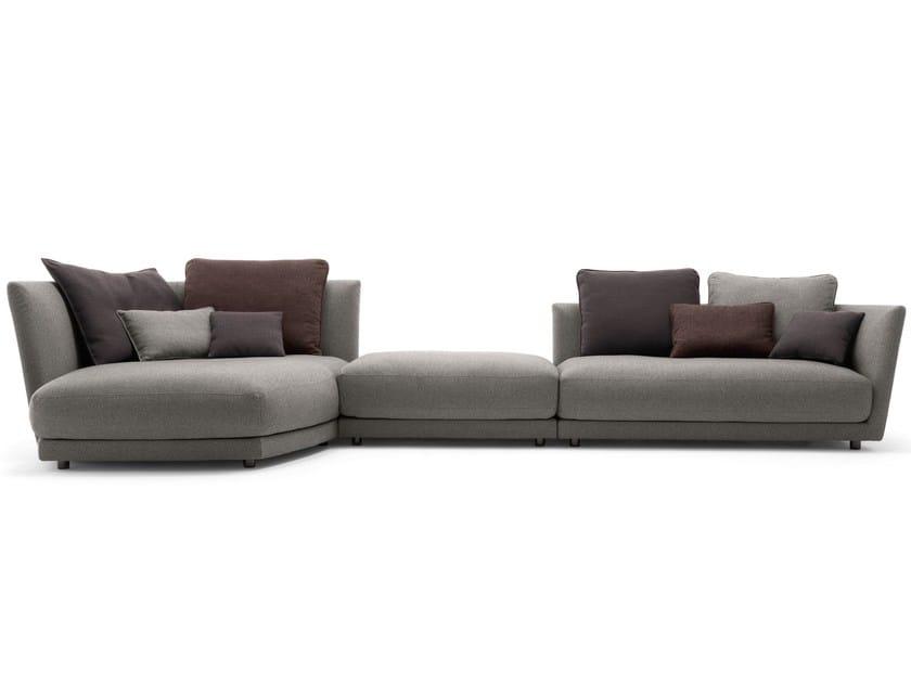 divano modulare in tessuto tondo divano modulare rolf benz. Black Bedroom Furniture Sets. Home Design Ideas