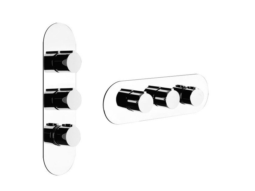 3 hole thermostatic shower mixer TONDO WELLNESS 43064 by Gessi