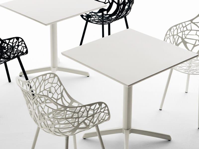 Square aluminium Table Top TONIK | Square Table Top - FAST