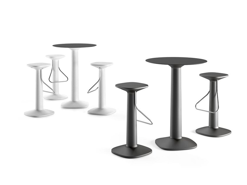 Round high table TOOL TABLE by Plust
