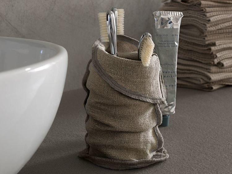 Contemporary style linen toothbrush holder Toothbrush holder - Arcom