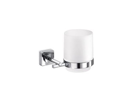 Satin glass toothbrush holder QUADRO | Toothbrush holder - INDA®