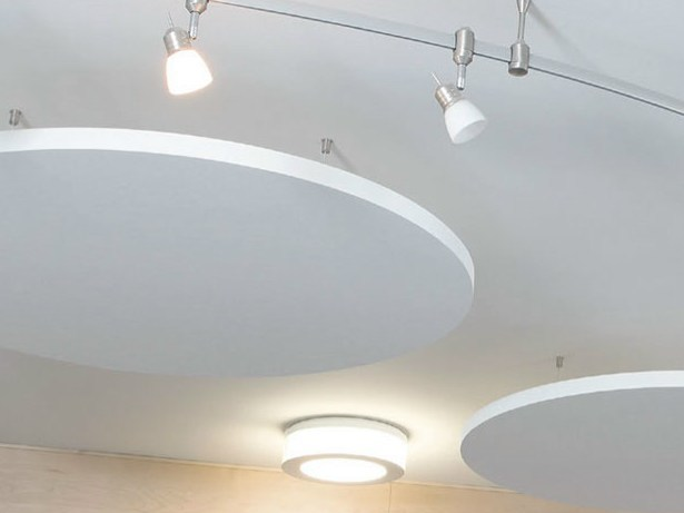 Rock wool acoustic ceiling clouds TOPIQ® Sonic element - Knauf AMF Italia Controsoffitti