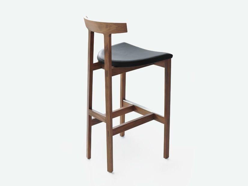 High wooden stool TORII BAR | Stool - BENSEN
