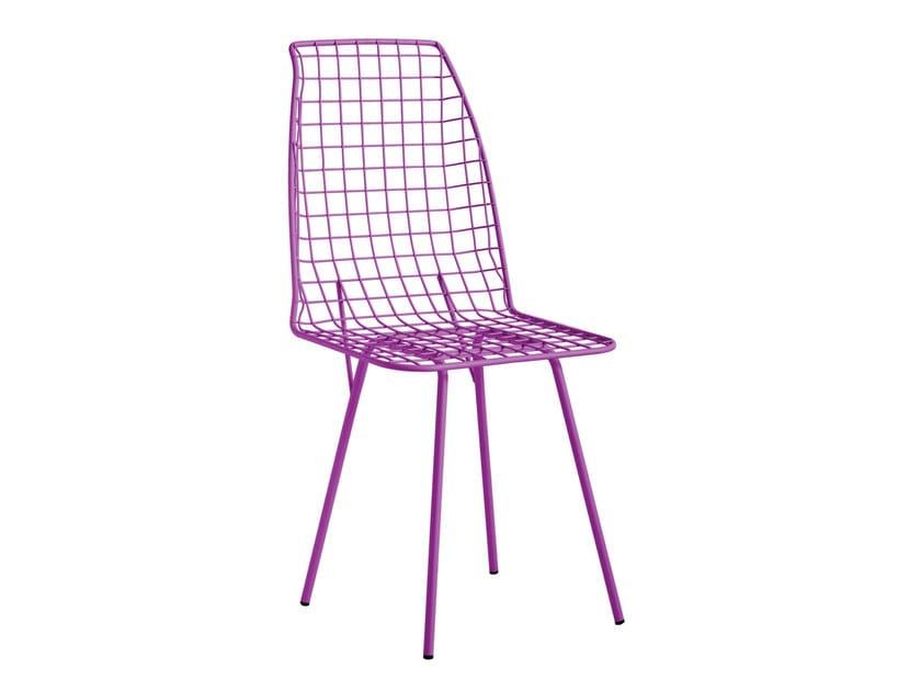 Galvanized steel garden chair TORINO - iSimar