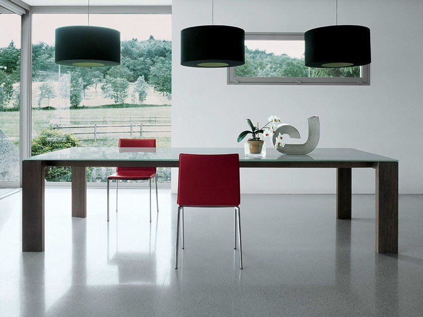 Rectangular wood and glass table TORONTO | Rectangular table by Sovet italia
