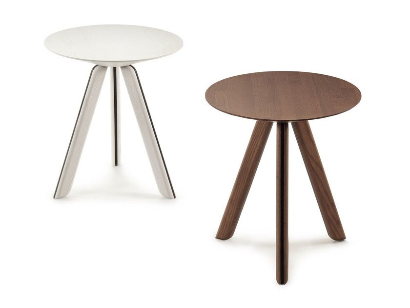 Round wooden coffee table TORTUGA | Coffee table - SANCAL