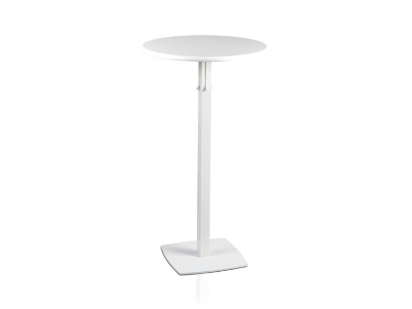 Lacquered round MDF high table TOTEM 416 - TALIN