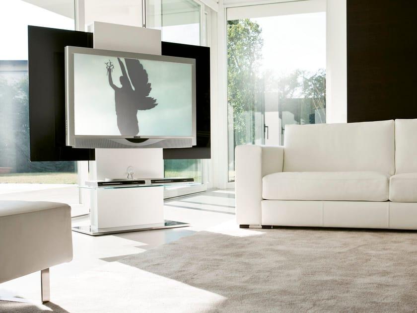 Mobile TV girevole in fibra di legno TOTEM - Pacini & Cappellini