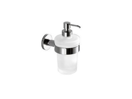 Wall-mounted satin glass liquid soap dispenser TOUCH | Wall-mounted liquid soap dispenser - INDA®