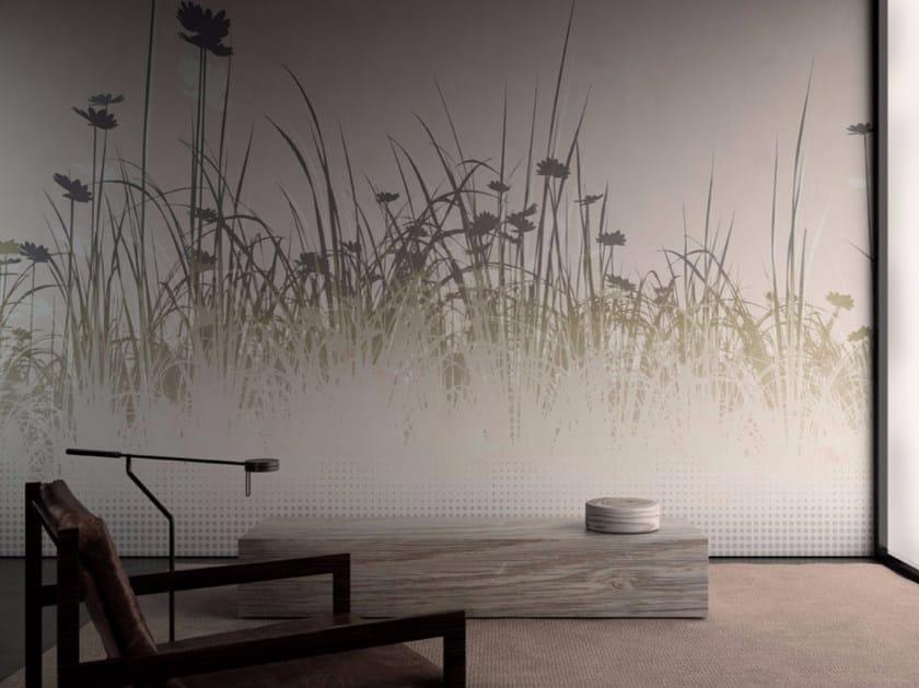 Washable vinyl wallpaper with floral pattern TOURBILLON - GLAMORA