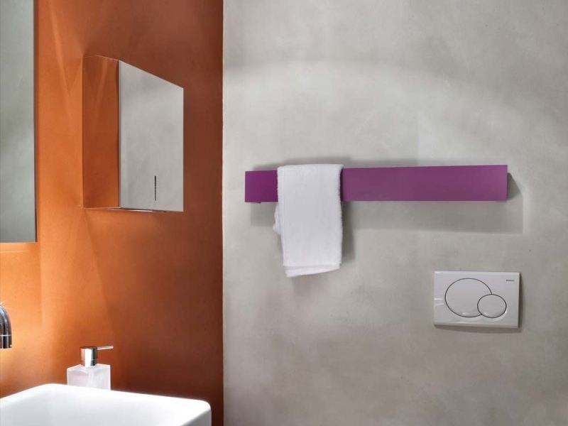 Electric wall-mounted aluminium towel warmer TOWEL BAR - RIDEA
