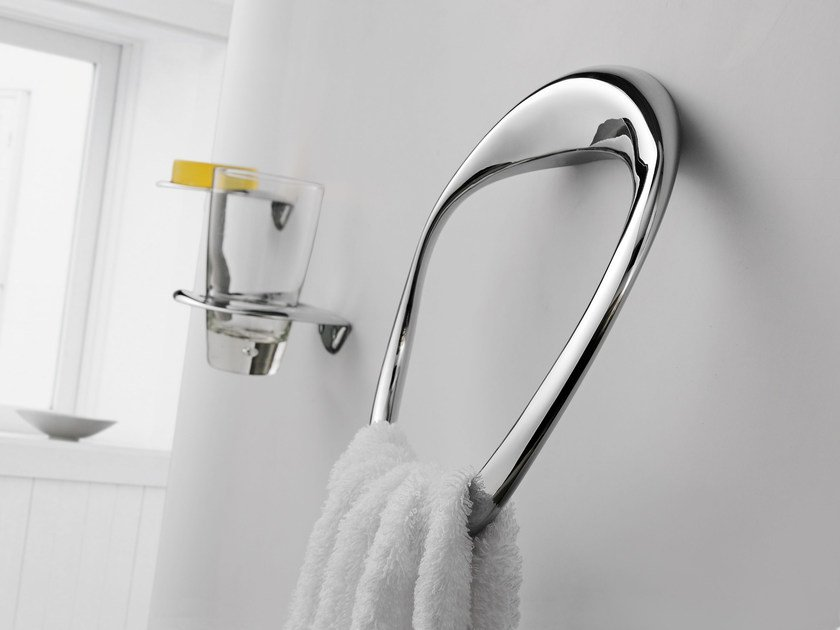 Chromed brass towel ring ETHER | Towel ring - JUSTIME