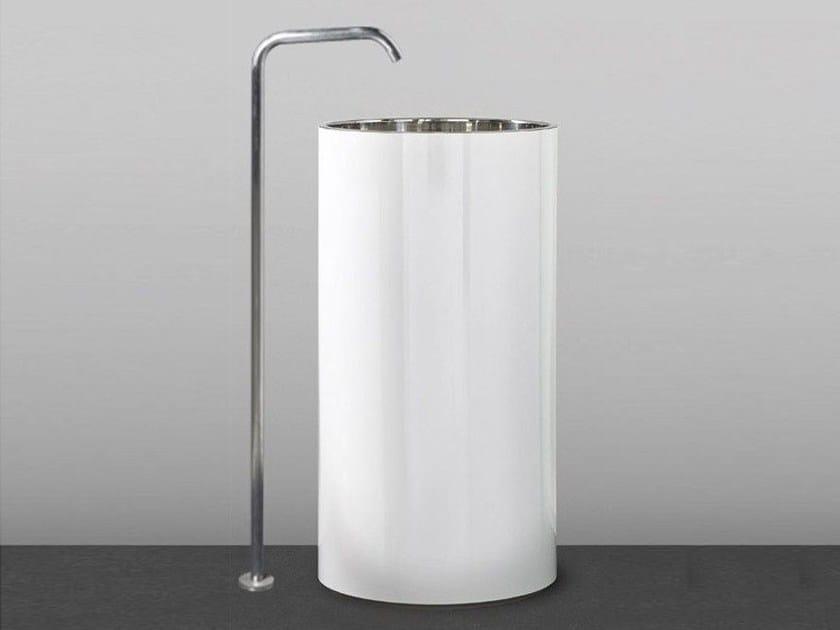 Freestanding Corian® washbasin TOWER 85 - MAKRO