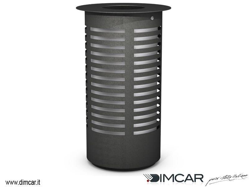 Outdoor metal waste bin Cestone Tower by DIMCAR