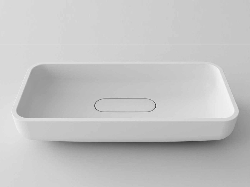 Countertop rectangular Stonelight washbasin TR68 by Flora Style