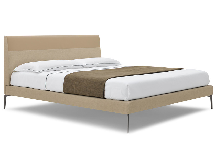 Upholstered double bed TRACE - Silenia