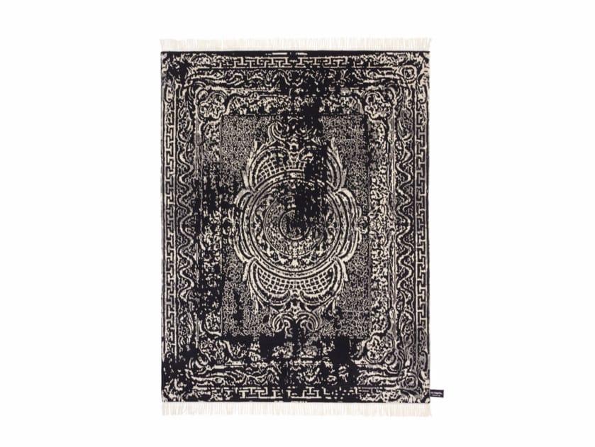 Handmade rectangular rug TRACES D'AUBUSSON B&W - cc-tapis ®