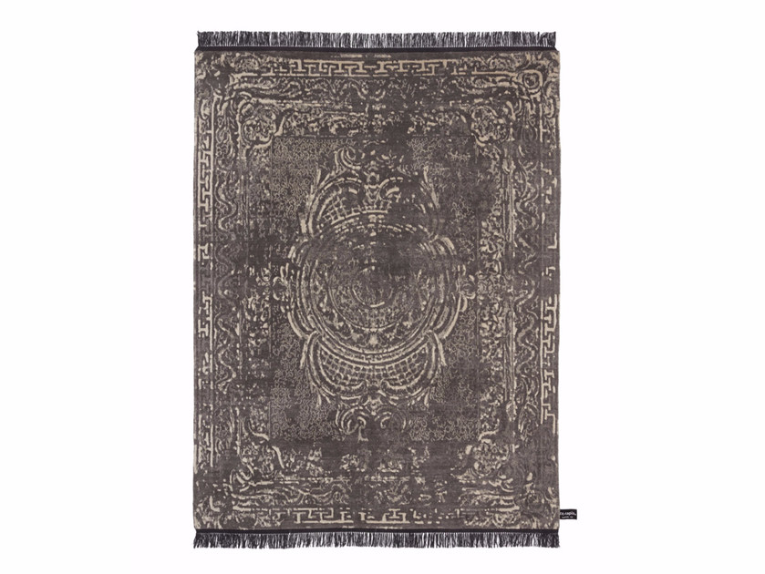 Rectangular wool rug TRACES D'AUBUSSON FULL ALOE - cc-tapis ®