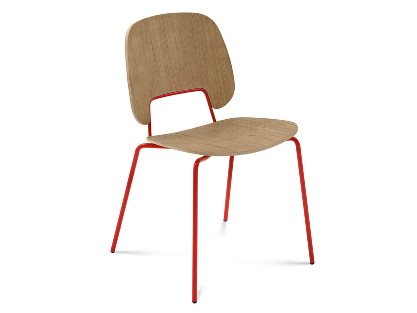 Stackable multi-layer wood chair TRAFFIC | Multi-layer wood chair - DOMITALIA