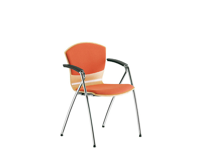Beech training chair with armrests TA-CHERIE | Training chair by Sesta