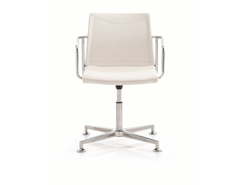 Swivel task chair with 4-Spoke base with armrests FRAME | Task chair with 4-Spoke base - Emmegi
